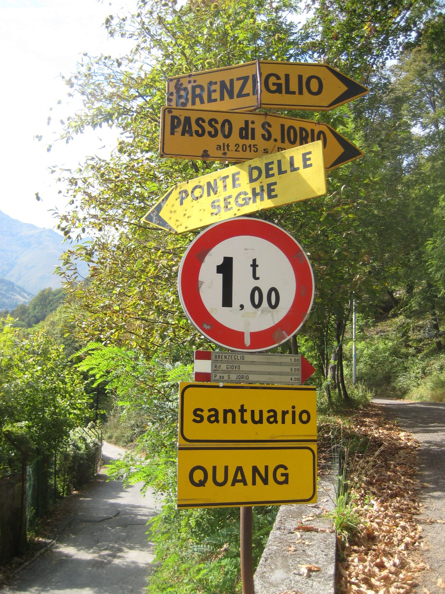 sign near Garzeno